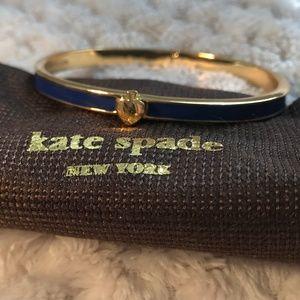 Kate Spade Spade Blue Bangle Thin Hinge Bangle